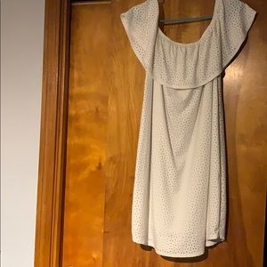 Maurices over the shoulder white sundress